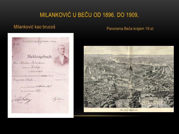 MILANKOVIĆ U BEČU OD 1896. DO 1909,