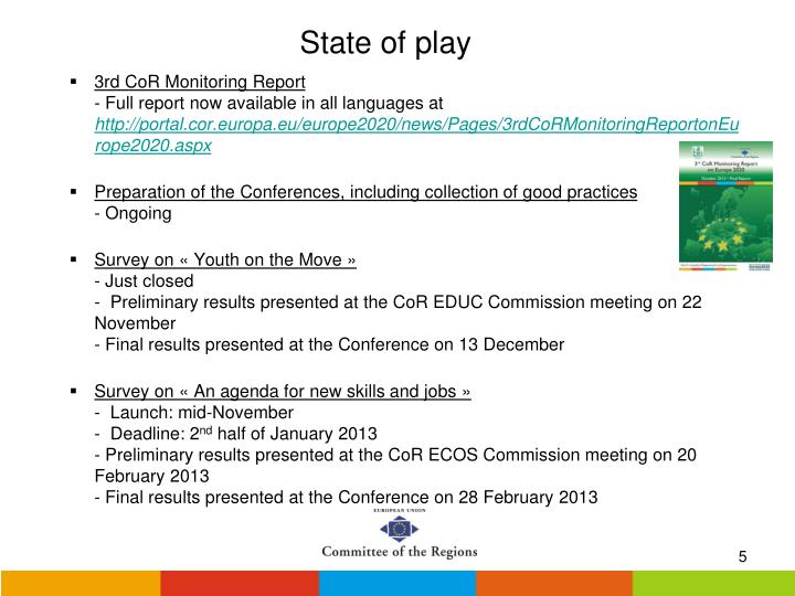 3rd CoR Monitoring Report