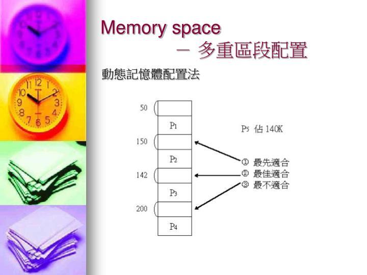 Memory space