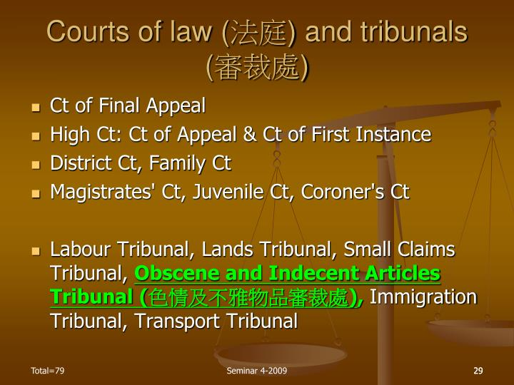 Courts of law (
