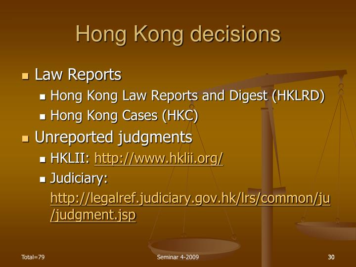 Hong Kong decisions