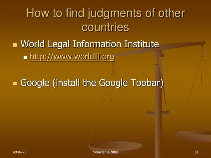 How to find judgments of other countries