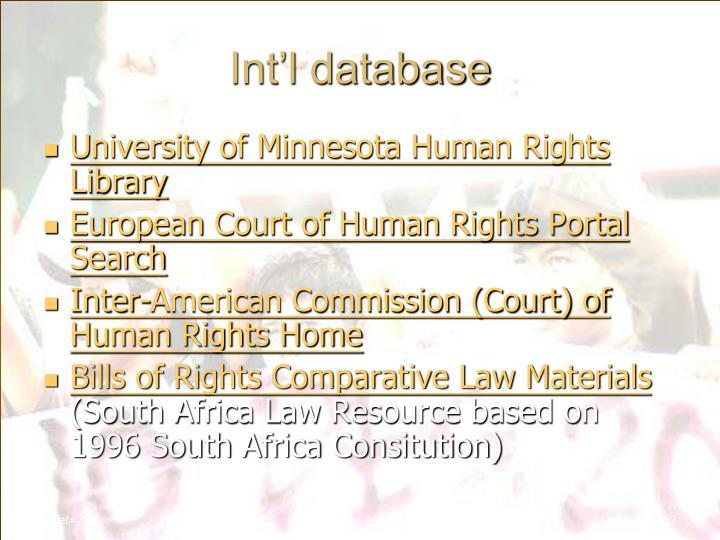 Int'l database