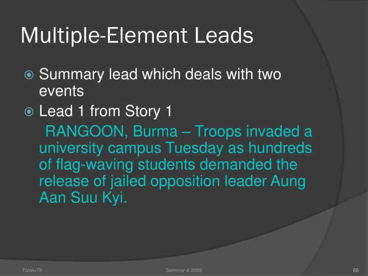 Multiple-Element Leads