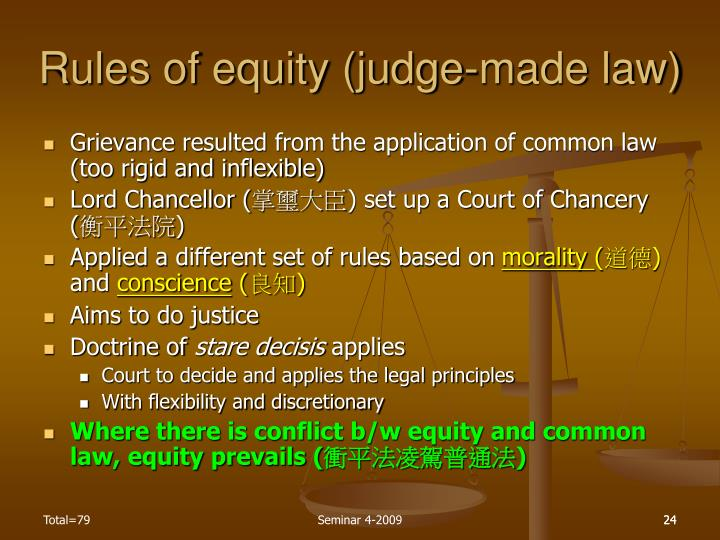Rules of equity (judge-made law)