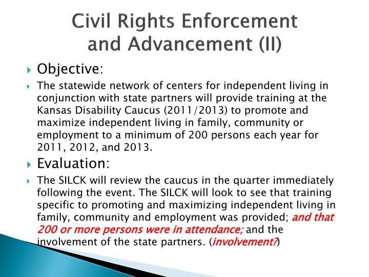 Civil Rights Enforcement