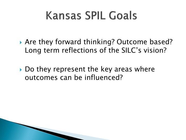 Kansas SPIL Goals