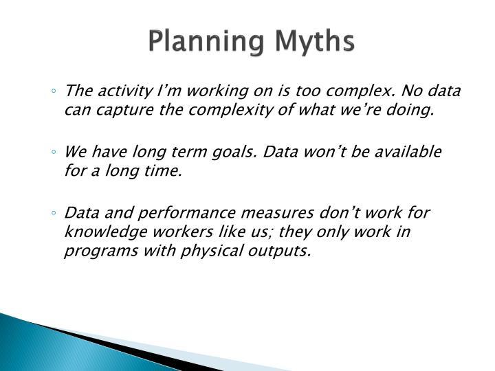 Planning Myths
