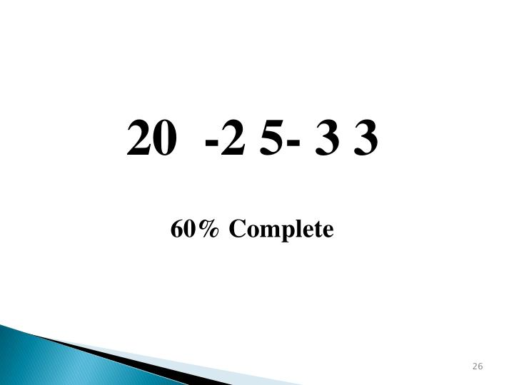 20  -2 5- 3 3