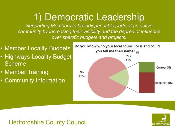 1) Democratic Leadership