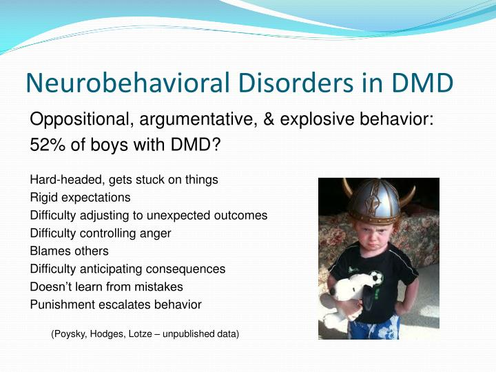 Neurobehavioral Disorders in DMD