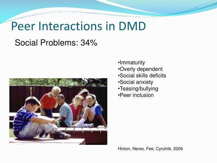 Peer Interactions in DMD