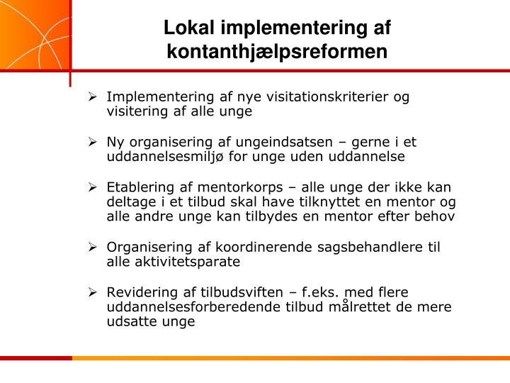 Lokal implementering af kontanthjælpsreformen