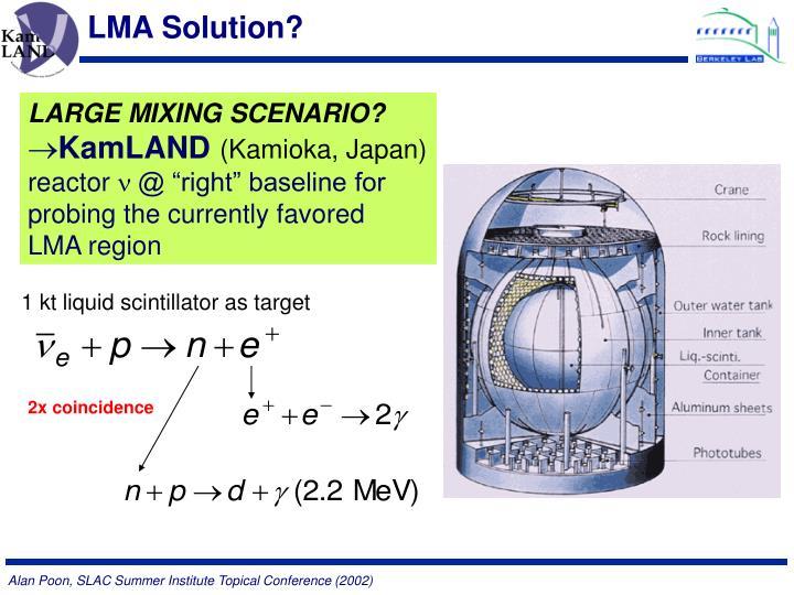 LMA Solution?
