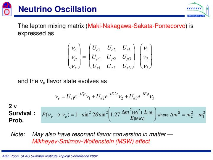 Neutrino Oscillation
