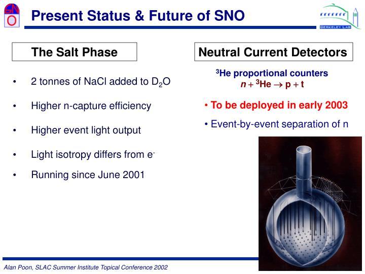 Present Status & Future of SNO