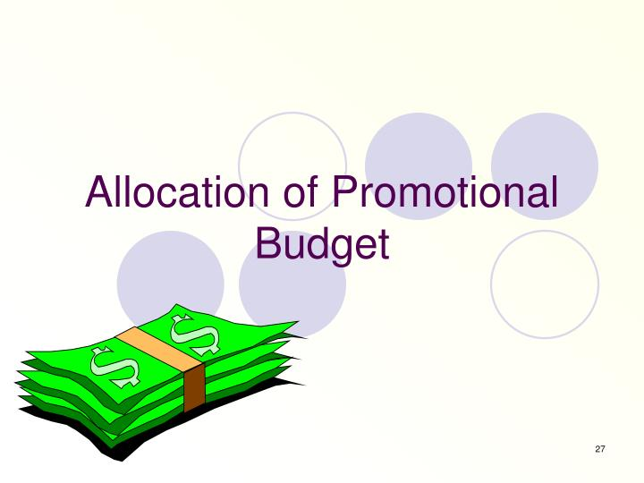Allocation of Promotional Budget