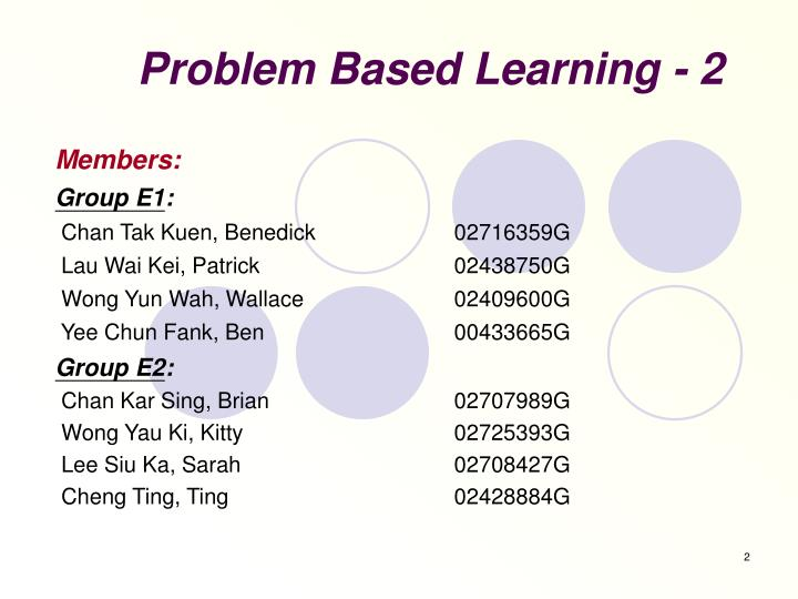 Problem based learning 2