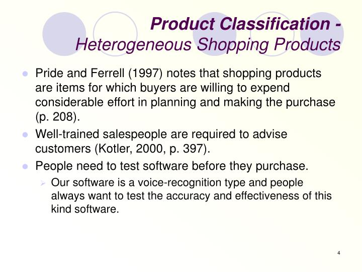 Product Classification -
