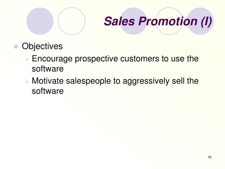Sales Promotion (I)