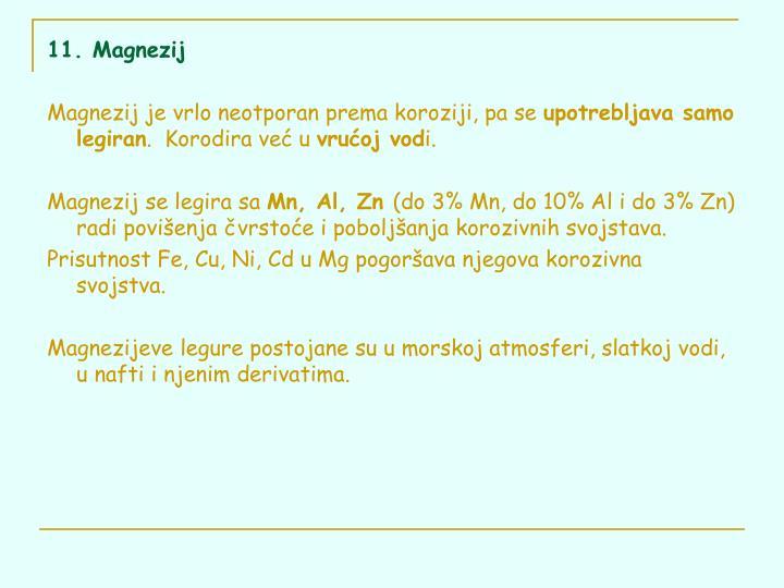 11. Magnezij