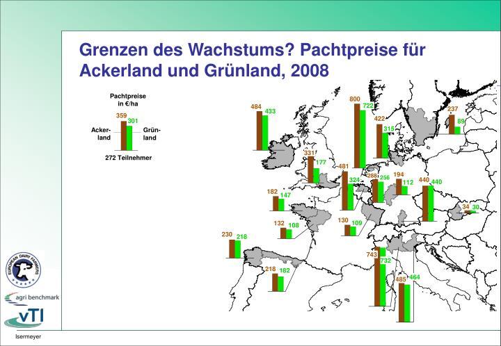 Grenzen des Wachstums? Pachtpreise für Ackerland und Grünland, 2008