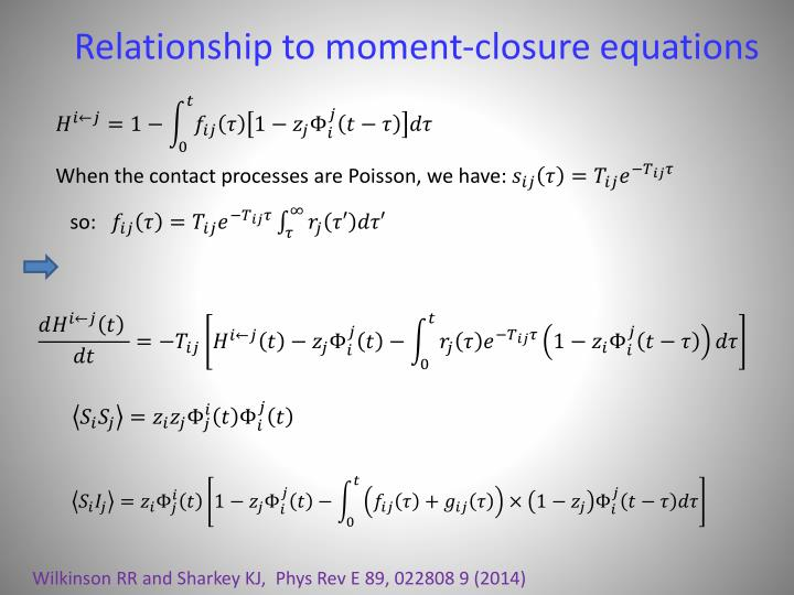 Relationship to moment-closure equations