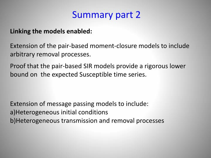 Summary part 2