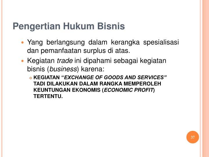 Pengertian Hukum Bisnis