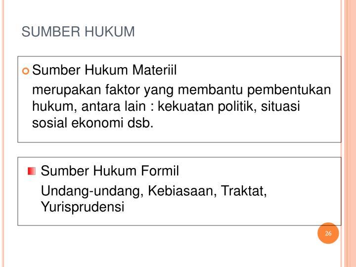 SUMBER HUKUM
