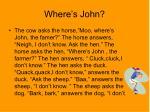 where s john