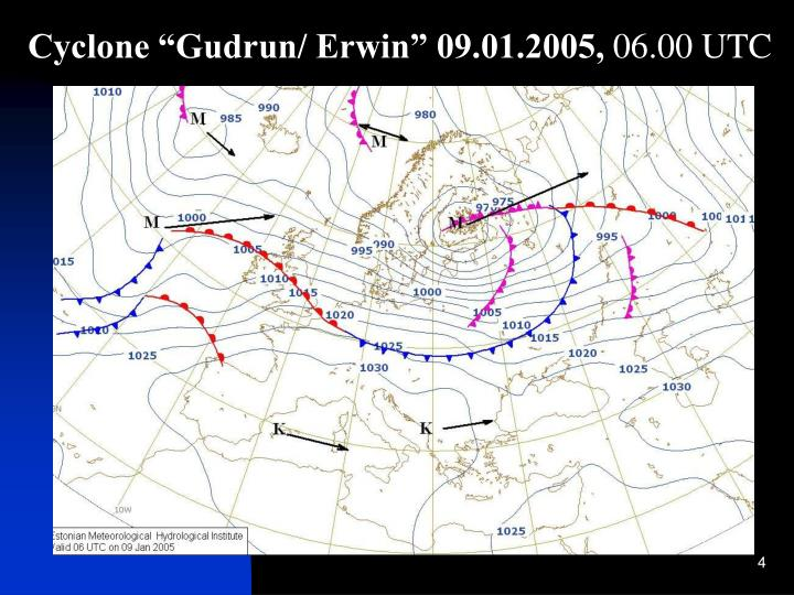 """Cyclone """"Gudrun/ Erwin"""" 09.01.2005,"""