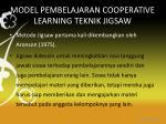 model pembelajaran cooperative learning teknik jigsaw