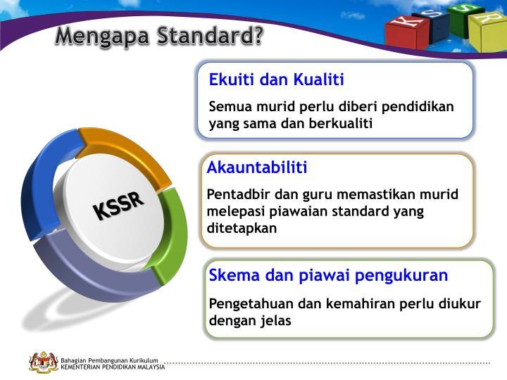 Mengapa Standard?