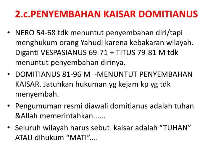 2.c.PENYEMBAHAN KAISAR DOMITIANUS