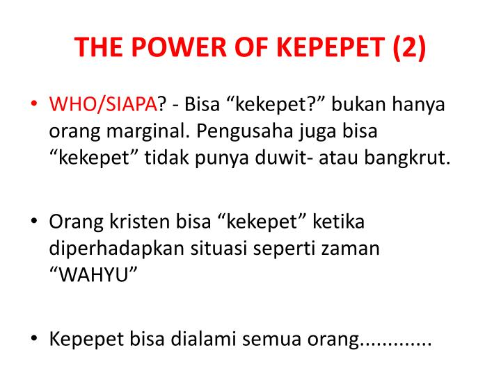 THE POWER OF KEPEPET (2)