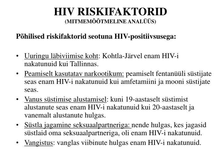 HIV RISKIFAKTORID