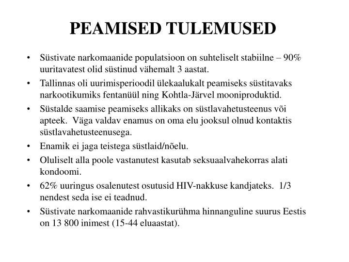 PEAMISED TULEMUSED
