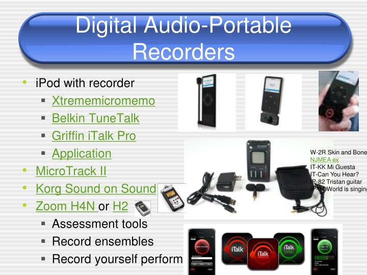 Digital Audio-Portable Recorders