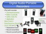 digital audio portable recorders
