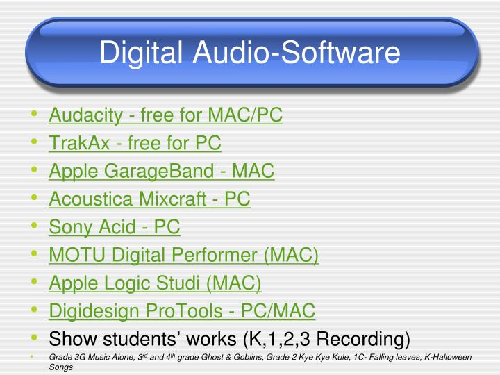 Digital Audio-Software