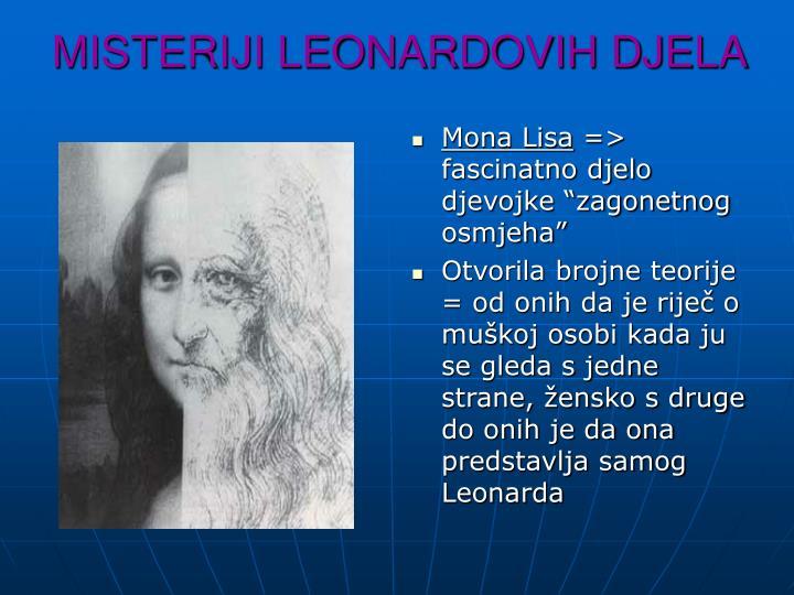 MISTERIJI LEONARDOVIH DJELA