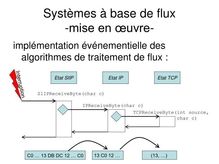 Systèmes à base de flux