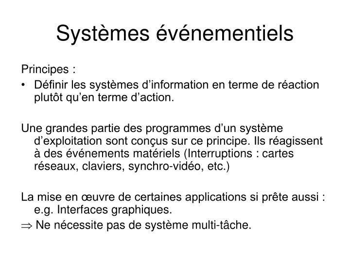 Systèmes événementiels