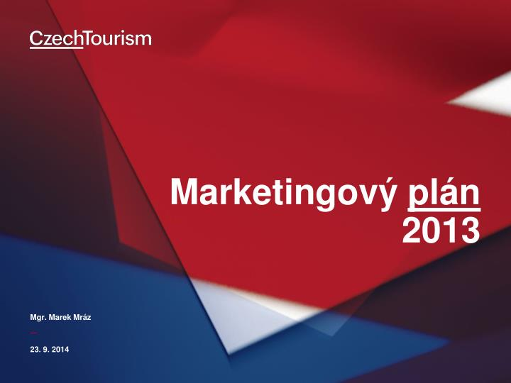 Marketingov pl n 2013