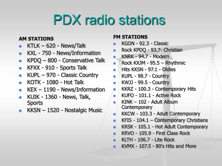 Pdx radio stations