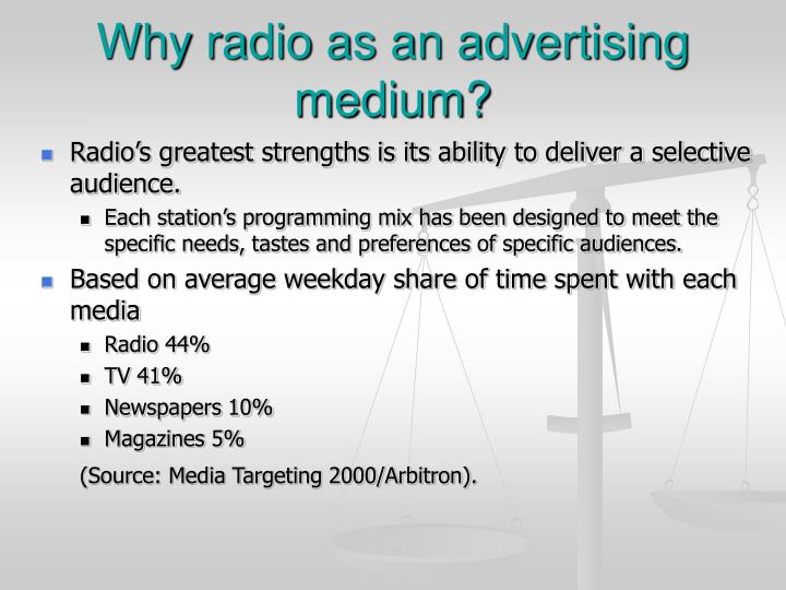 Why radio as an advertising medium?