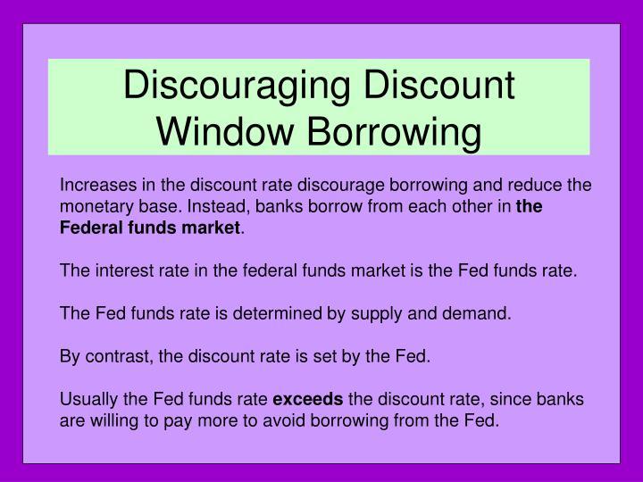 Discouraging Discount Window Borrowing