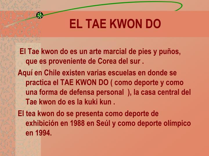 EL TAE KWON DO