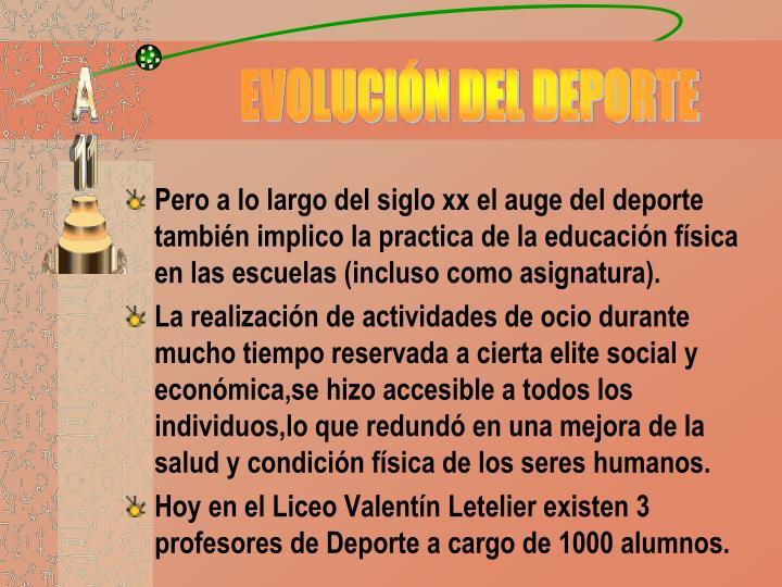 EVOLUCIÓN DEL DEPORTE